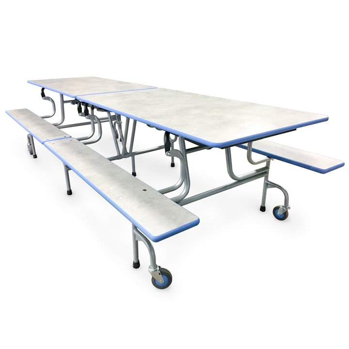 portable cafeteria table with benches